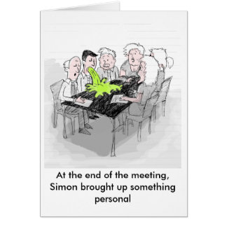Funny greeting card - Simon brings something up