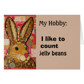 Funny Greeting Card with Spring Rabbit