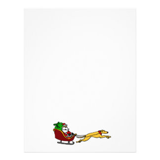Funny Greyhound Pulling Christmas Sleigh Letterhead Template