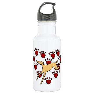 Funny Greyhound Puppy Love 532 Ml Water Bottle