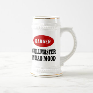 Funny Grillmaster 18 Oz Beer Stein