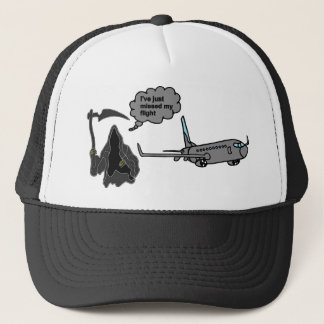 funny grim reaper trucker hat