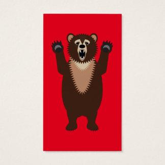 Funny Grizzly Bear Cartoon Business Card