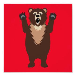 Funny Grizzly Bear Cartoon Card
