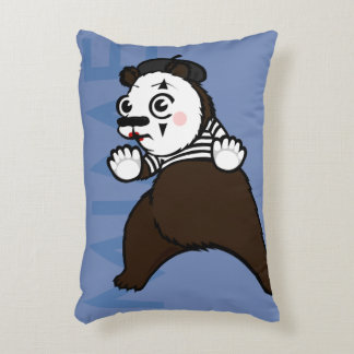 FUNNY GRIZZLY BEAR MIME ACCENT PILLOW