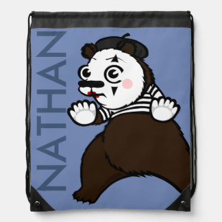 FUNNY GRIZZLY BEAR MIME DRAWSTRING BACKPACK