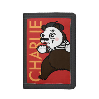 FUNNY GRIZZLY BEAR MIME TRIFOLD WALLET