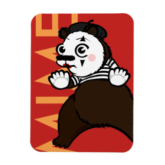 FUNNY GRIZZLY BEAR MIME VERTICAL MAGNET