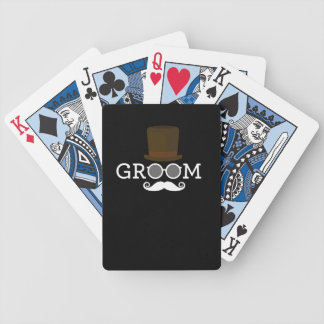 Funny Groom Mustache & Hat  for Bachelor's Party Bicycle Playing Cards