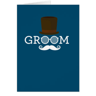 Funny Groom Mustache & Hat  for Bachelor's Party Card