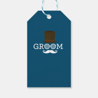 Funny Groom Mustache & Hat  for Bachelor's Party Gift Tags