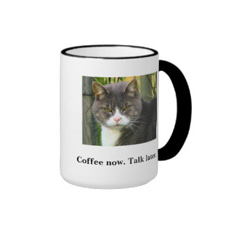 FUNNY Grumpy Cat Coffee Mug. Morning Coffee Cup.