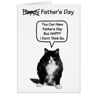 Funny Grumpy Cat Father's Day Card