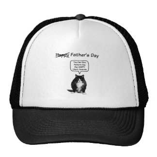 Funny Grumpy Cat Father's Day Trucker Hat