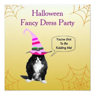 Funny Grumpy Cat Halloween Invitation