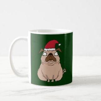Funny Grumpy Santa Pug Christmas Mug