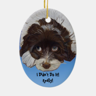 Funny Guilty Cocker Spaniel Christmas Ornament