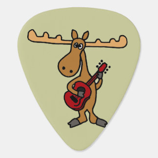 Funny Guitar Playing Moose Guitar Pick