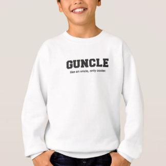 Funny Guncle College Print Sweatshirt