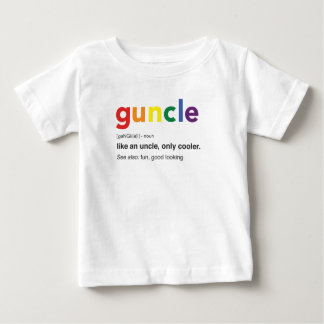 Funny Guncle Definition Print Baby T-Shirt