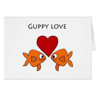 Funny Guppy Love Design Greeting Card