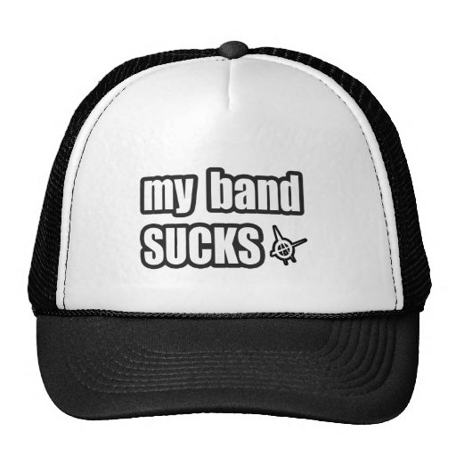 Funny guys girls Punk rock music band humor Mesh Hat