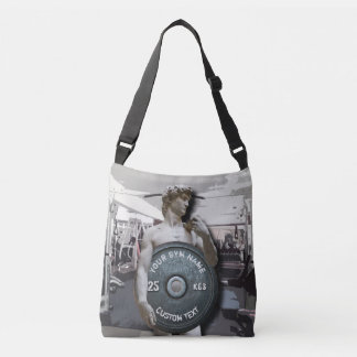 Funny Gym Owner Fitness David Holding Weight Tote Bag