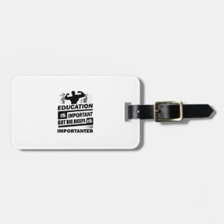 Funny Gym Sayings Luggage Tag