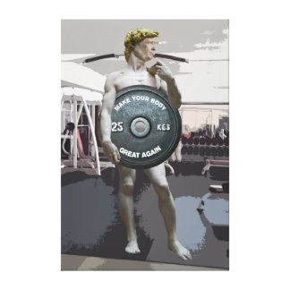 Funny Gym Workout David As Donald Trump Full Body Canvas Print