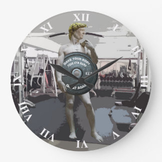 Funny Gym Workout David As Donald Trump Full Body Large Clock