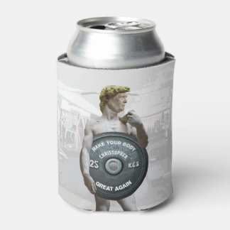 Funny Gym Workout David As Donald Trump Half Body Can Cooler