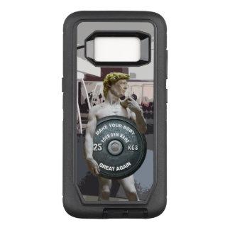 Funny Gym Workout David As Donald Trump Half Body OtterBox Defender Samsung Galaxy S8 Case