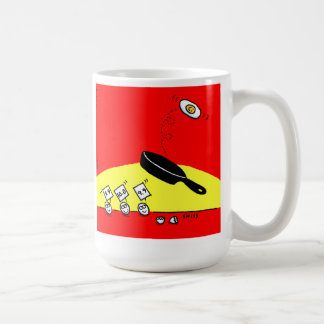 Funny Gymnast Egg Gymnastics Back Flips Breakfast Coffee Mug