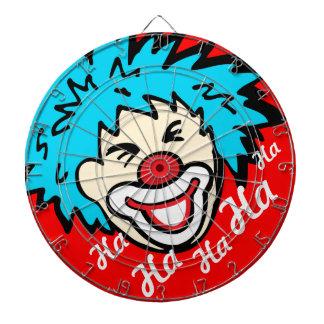 Funny ha ha graphic clown dart board