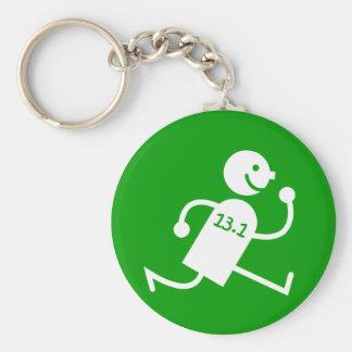 Funny half marathon basic round button keychain