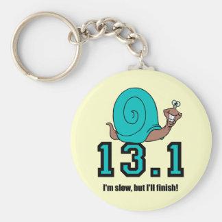 Funny half marathon keychains
