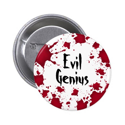 Funny Halloween bloody psycho evil genius Pin