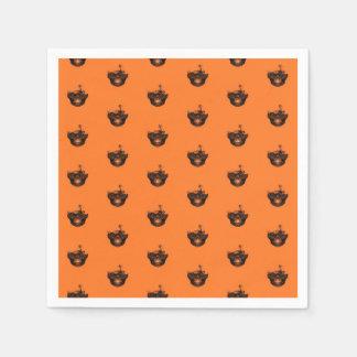 Funny Halloween - Burned Skull Pattern Disposable Napkins