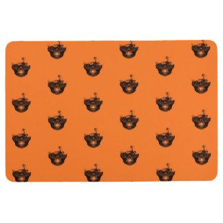 Funny Halloween - Burned Skull Pattern Floor Mat
