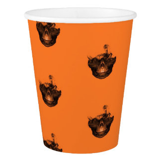 Funny Halloween - Burned Skull Pattern Paper Cup