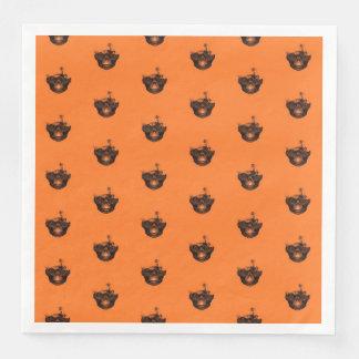 Funny Halloween - Burned Skull Pattern Paper Napkins