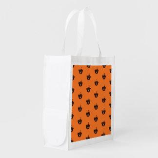 Funny Halloween - Burned Skull Pattern Reusable Grocery Bag