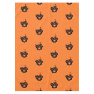 Funny Halloween - Burned Skull Pattern Tablecloth