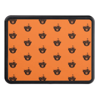 Funny Halloween - Burned Skull Pattern Trailer Hitch Cover