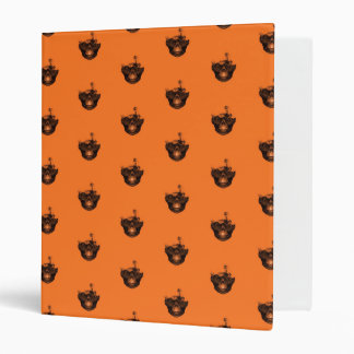 Funny Halloween - Burned Skull Pattern Vinyl Binders
