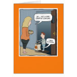 Funny Halloween card: The Costume Greeting Card