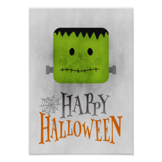 Funny Halloween Decor - Grunge Poster