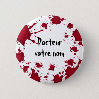 Funny Halloween Docteur 2 Inch Round Button