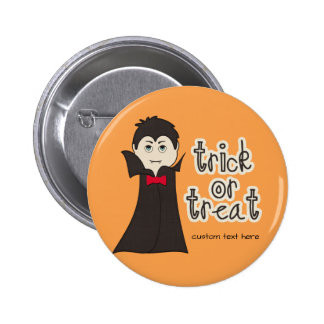 Funny Halloween Dracula Scary Trick or Treat 2 Inch Round Button