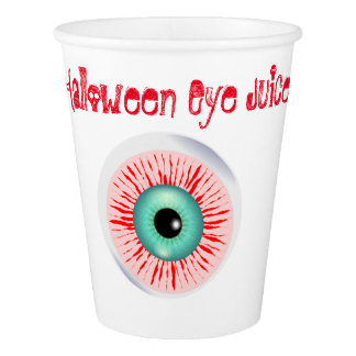 Funny halloween drink recipe paper cup